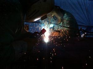 pipeline construction welder